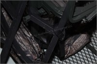 Hunting tree stand, harness, seat & back