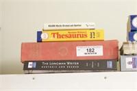 thesaurus, dictionary & vocab books