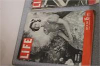 Life magazines: Eisenhower, Princess Elizabeth...