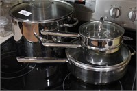 3pcs. Commercial stainless steel pans