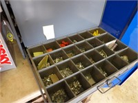 Metal Hardware bins & contents