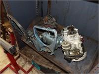 Boat motor parts, shelf & Contents