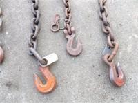 "Chain segments - 1/2"" & 3/4"" link w/ hooks"