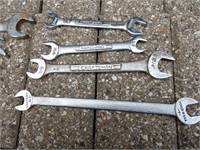 Craftsman double open end wrenches SAE Sizes