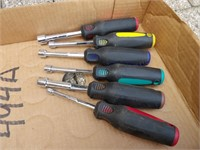 """Nut Driver set Fractional 1/4"""" to 1/2"""""""