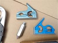 Levels, tape measure & valve compressor