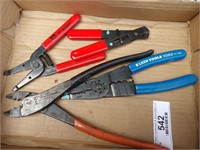 Wire strippers, pliers & Cutters