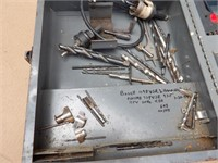 2 Power drills in case w/ bits