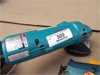 angle grinder, drill & heat gun