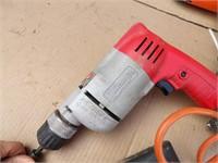3 drills: Milwaukee, B&D, 1 battery powered