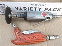air gun, die grinder & tire pressure gauges