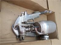 pair of pneumatic paint guns