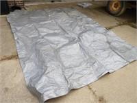 Large Grey Tarp 8x10'