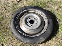 5.3-12 (2) trailer tires 5 bolt & spacesaver spare