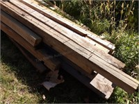 lumber - mostly treated 4x4 posts