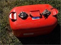 Johnson 5gal metal marine gas tank