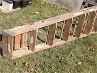 8' folding wood ladder