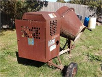 cement mixer - electric motor powered 110v 3/4hp