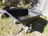 Poly dump garden cart