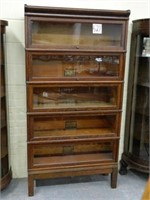 Globe-Wernicke Oak 5 Section Barrister Bookcase