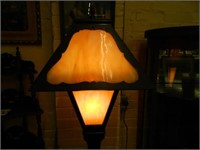 Early 1900's Mission Style Floor Lamp w/ Caramel