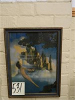 "Maxfield Parrish Vintage ""Dinky Boy"" Print (13x17)"