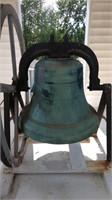 "E.W. Vanduzen Buckey Bell Foundry 1899 Cast Bronze Bell 37"""