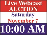 Live auction begins at 10 AM on Saturday, Nov. 7