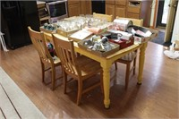 rectangle Maple top Kitchen table & 4 chairs only