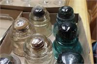 8pcs. glass insulators