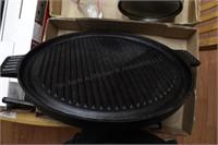 """Cast iron 10"""" skillet & round griddle (2pcs)"""