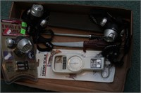 Headlamps, sharpening steels & fishing scale