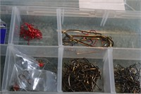 Fishing hooks (Snelled, large, small, eagle claw.)