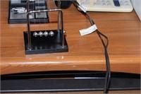 Desk, printer, shredder & monitor (late pick-up)