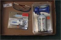 aresol air horn, safety glasses & Bilge pump