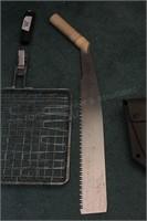 Camping tools (2 saws, folding shovel, more)