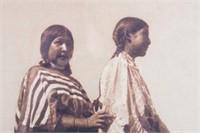 "Edward S Curtis ""Piegan Girls"" Black & White Photo"