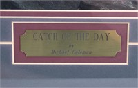 """""""Catch of the Day"""" Michael Coleman Framed Print"""
