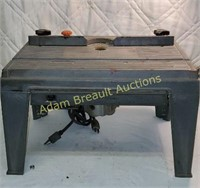Router table with vintage Black and Decker router