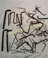 Large assortment Allen wrenches