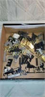 Assorted Hardware, letters, brackets, chains