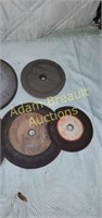 13 assorted grinding and sanding wheels