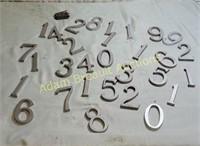 Cast aluminum 3 in numbers