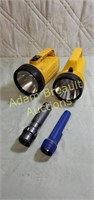 Two 6 volt flashlight, two small flashlights