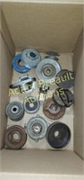 Box lot - assorted pulleys and spacers
