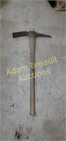 Wood handle pickaxe