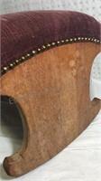 Rocking Foot Stool/Seat 13x22x15