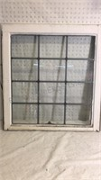 Vintage Window Pane approx 27 1/2x26 - matches