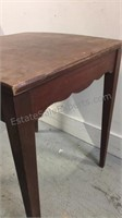 Vintage Wood Swivel Top Table 26x21 1/2x21 1/2