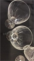 4 Hand Blown Crystal Wine Glasses and